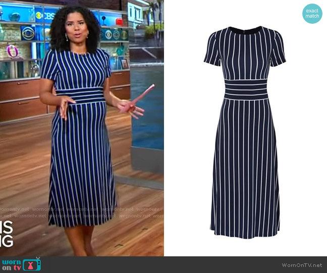 LAUREN Ralph Lauren Kristie Dress worn by Adriana Diaz  on CBS Mornings