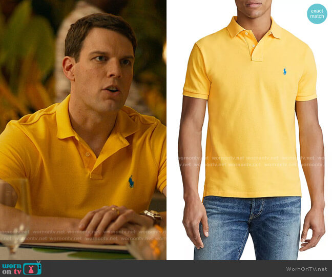 Polo Ralph Lauren Yellow Fin Polo Shirt worn by Shane Patton (Jake Lacy) on The White Lotus