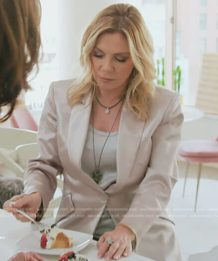 Ramona's metallic blazer on The Real Housewives of New York City