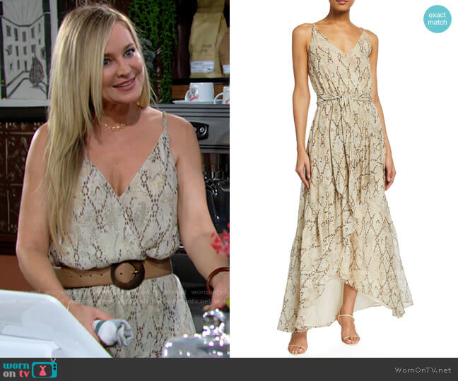 Ramy Brook Clancy Dress worn by Sharon Collins (Sharon Case) on The Young & the Restless