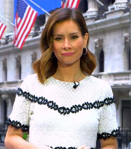 Rebecca's white lace dress on Good Morning America