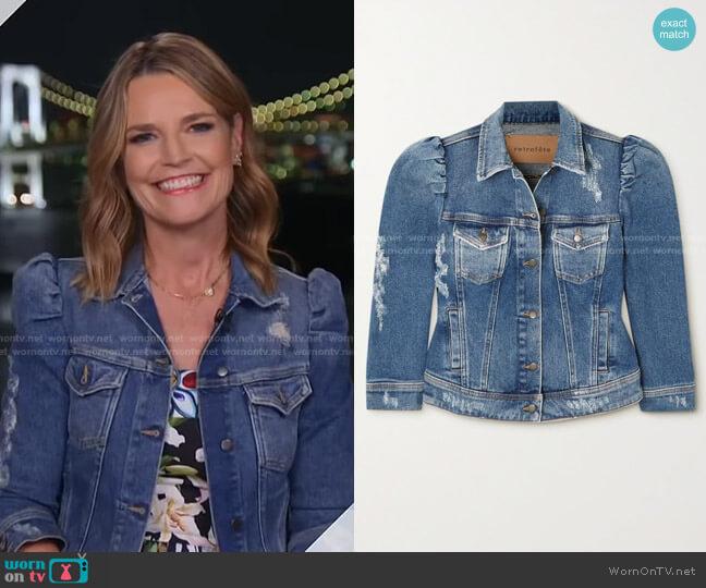 Ada Denim Jacket by Retrofete worn by Savannah Guthrie  on Today