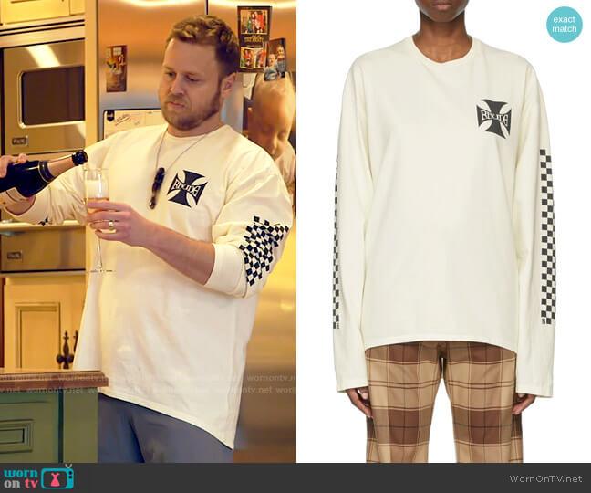 Rhude Classic Checkers Long-Sleeve T-Shirt worn by Spencer Pratt  on The Hills New Beginnings