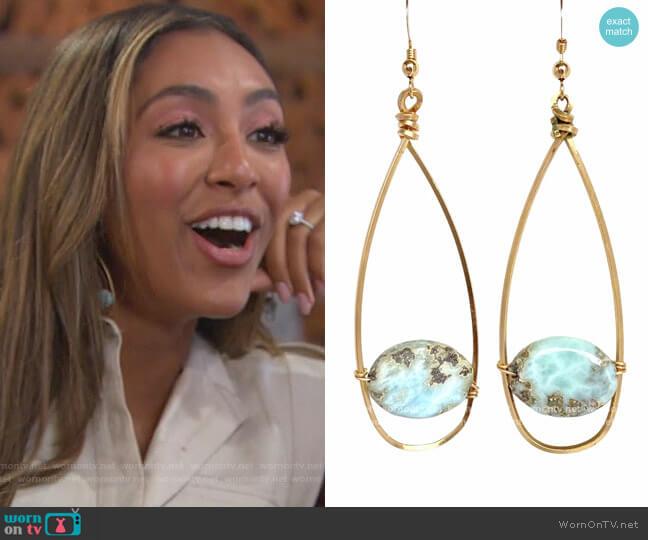 Lumeria Earrings by Robyn Rhodes worn by Tayshia Adams  on The Bachelorette