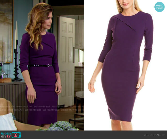Roland Mouret Hisley Dress worn by Victoria Newman (Amelia Heinle) on The Young & the Restless