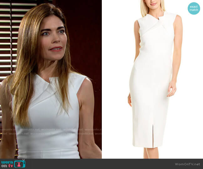 Roland Mouret Tikal Dress worn by Victoria Newman (Amelia Heinle) on The Young & the Restless
