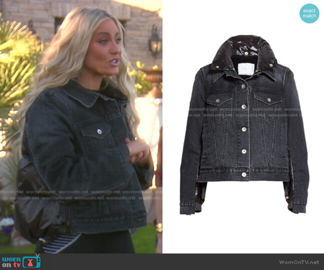 Puffer Back Denim Jacket by Sacai worn by Dorit Kemsley  on The Real Housewives of Beverly Hills
