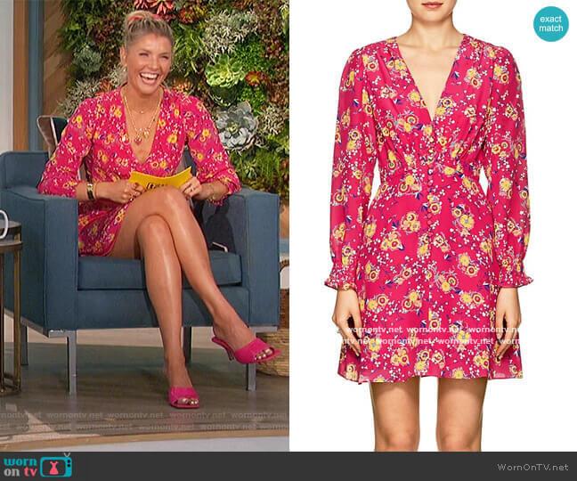 Floral v-neck Dress by Saloni worn by Amanda Kloots  on The Talk