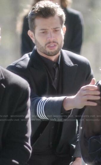 Sam's black stripe-sleeve coat on Dynasty