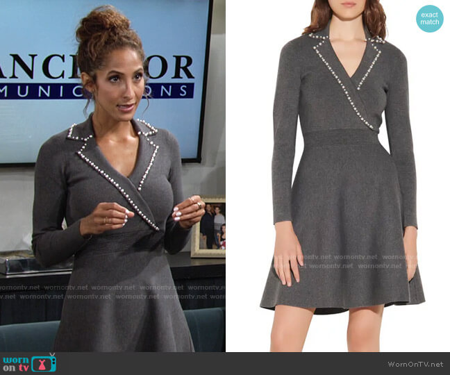 Sandro Suity Knit Dress worn by Lily Winters (Christel Khalil) on The Young & the Restless