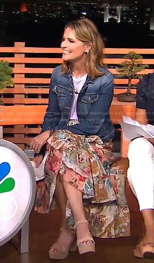 SAvannah's floral midi skirt on Today