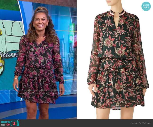 Floral Print Dress by Scotch & Soda worn by Ginger Zee  on Good Morning America