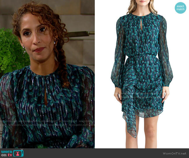 Shoshanna Essex Dress worn by Lily Winters (Christel Khalil) on The Young & the Restless