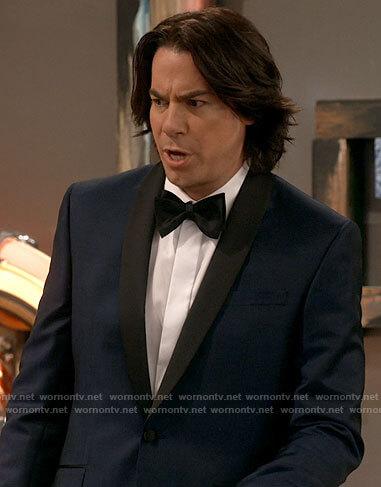 Spencer's blue tux jacket on iCarly