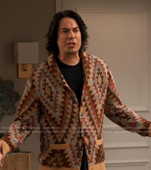 Spencer's tan geometric print cardigan on iCarly
