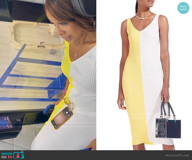 Staud Limoncello Dana Dress worn by Gayle King  on CBS Mornings