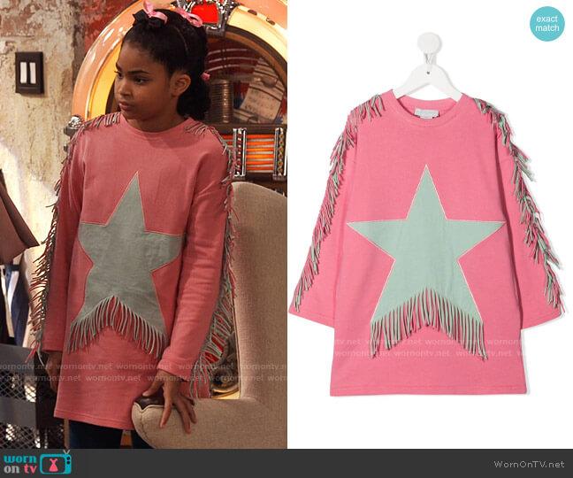 Stella McCartney Star Motif Fringed Dress worn by Millicent (Jaidyn Triplett) on iCarly