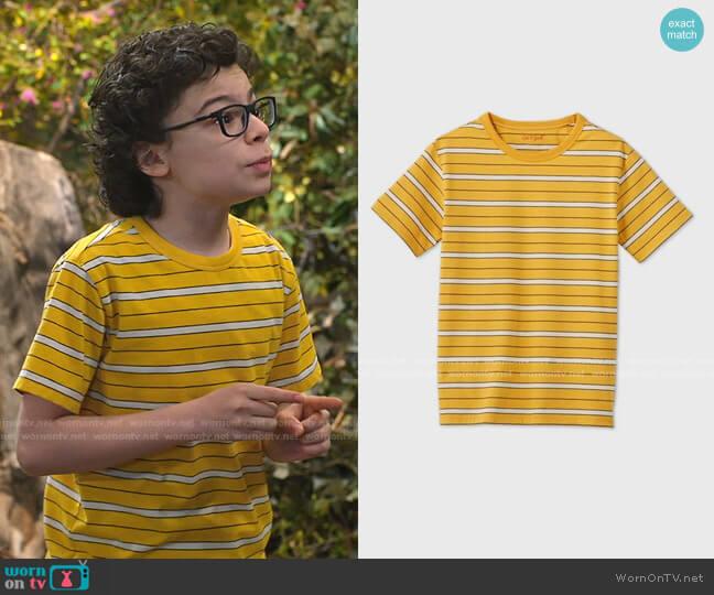 Striped T-Shirt by Cat & Jack at Target worn by Matteo Silva (Raphael Alejandro) on Bunkd