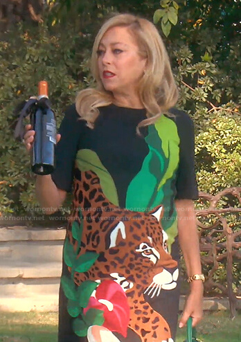 Sutton's animal print dress on The Real Housewives of Beverly Hills