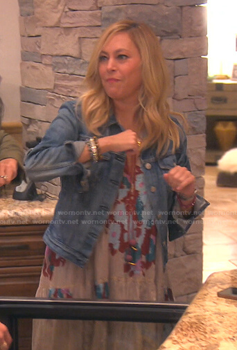 Sutton's floral maxi dress on The Real Housewives of Beverly Hills