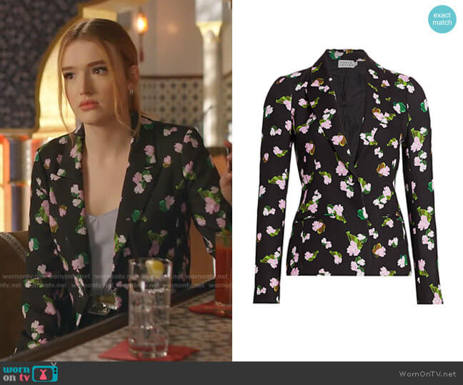 Waverly Floral Blazer by Tanya Taylor worn by Kirby Anders (Maddison Brown) on Dynasty