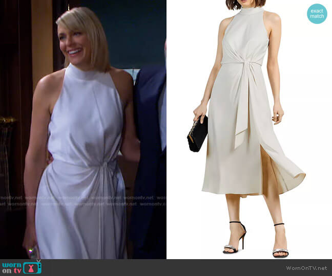 Halter Occasion Midi Dress by Ted Baker worn by Nicole Walker (Arianne Zucker) on Days of our Lives
