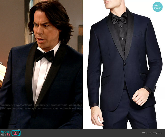 Ted Baker Slim Fit Formal Shawl Jacket worn by Spencer Shay (Jerry Trainor) on iCarly