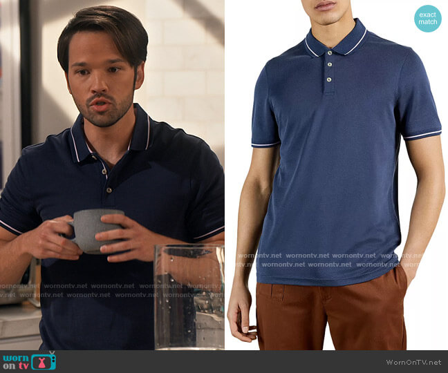 Ted Baker Gelpen Polo worn by Freddie Benson (Nathan Kress) on iCarly