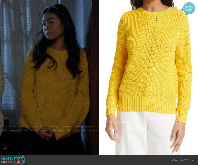 Ted Baker Hendrik Sweater worn by Nicole (Valerie Loo) on American Horror Stories