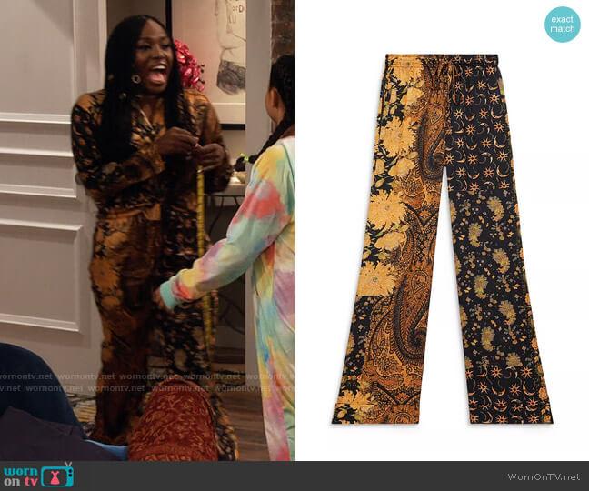 The Kooples Flowing Printed Pants worn by Harper (Laci Mosley) on iCarly