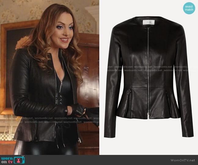 Anasta Leather Jacket by The Row worn by Fallon Carrington (Elizabeth Gillies) on Dynasty