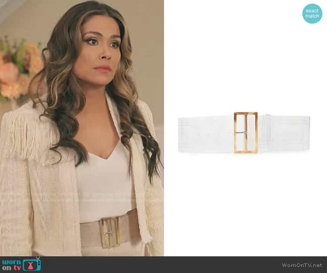 PVC Belt by Tibi worn by Cristal Jennings (Daniella Alonso) on Dynasty