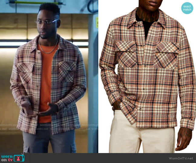 Topman Check Button-Up Overshirt worn by Chester Phineas Runk (Brandon McKnight) on The Flash