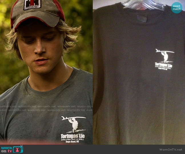 Tortugas Lie Lone Surfer Tee worn by JJ (Rudy Pankow) on Outer Banks