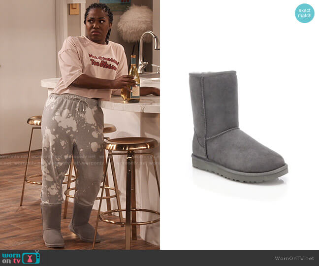Ugg Classic Short II Boot worn by Harper (Laci Mosley) on iCarly