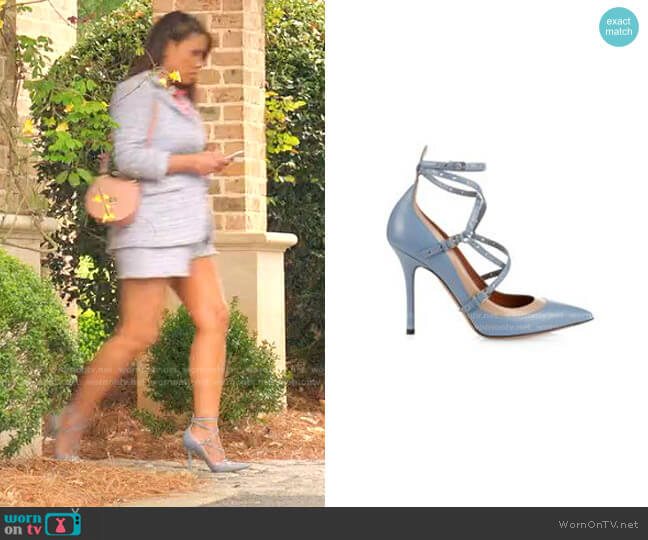 Love Latch Leather Pumps by Valentino worn by Cristal Jennings (Daniella Alonso) on Dynasty