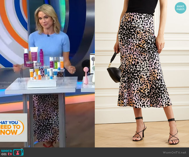 Diane Skirt by Veronica Beard worn by Amy Robach  on Good Morning America