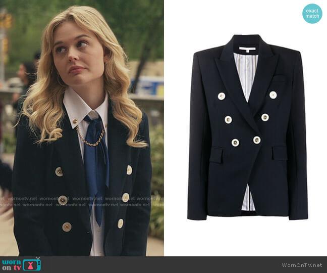 Miller Dickey Jacket by Veronica Beard worn by Audrey Hope (Emily Alyn Lind) on Gossip Girl