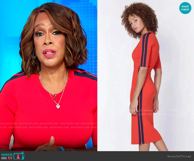 Veronica Beard Audrie Dress worn by Gayle King  on CBS Mornings