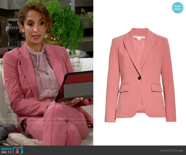 Veronica Beard Cutaway Dickey Jacket worn by Lily Winters (Christel Khalil) on The Young & the Restless