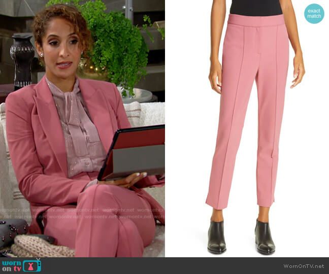 Veronica Beard Lago Pants worn by Lily Winters (Christel Khalil) on The Young & the Restless