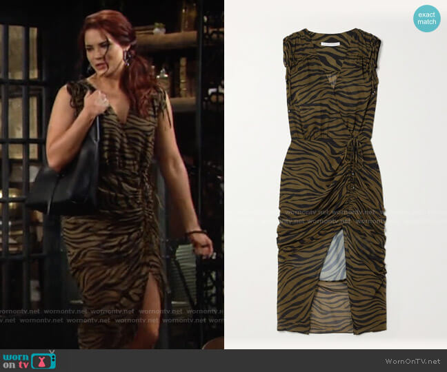 Veronica Beard Teagan Dress worn by Sally Spectra (Courtney Hope) on The Young & the Restless