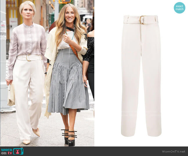 Vince Belted Trousers worn by Miranda Hobbs (Cynthia Nixon) on And Just Like That (Sex & the City reboot)