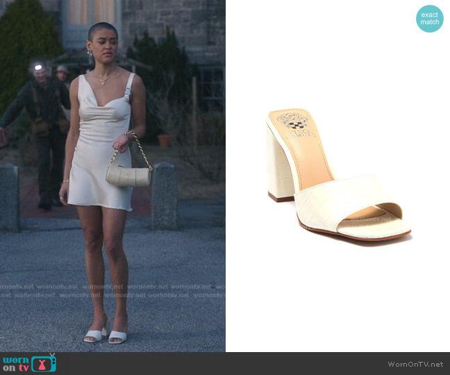 Daisana Croc Embossed Sandal by Vince Camuto worn by Julien Calloway (Jordan Alexander) on Gossip Girl