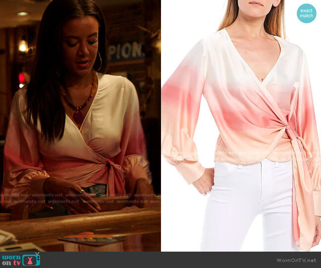 WAYF Ombre Long Sleeve Wrap Top worn by Maria DeLuca (Heather Hemmens) on Roswell New Mexico
