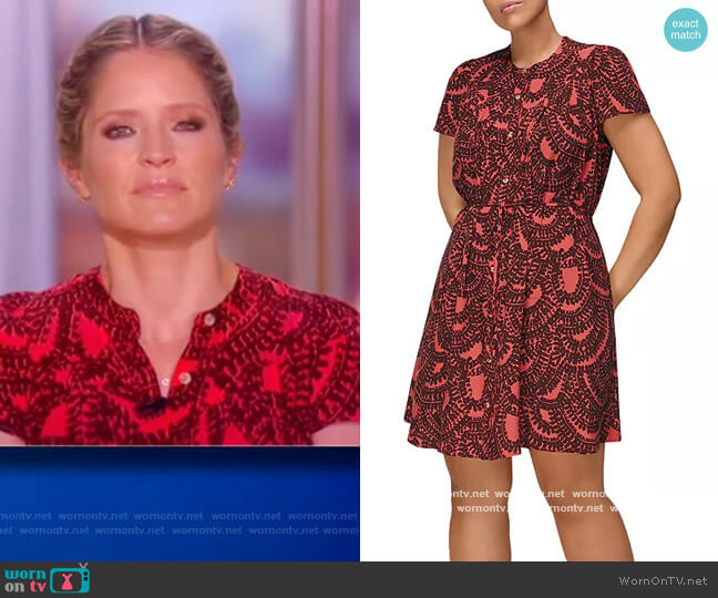 Scallop Print Trapeze Dress by Whistles worn by Sara Haines  on The View