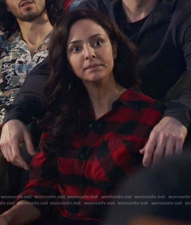 Zari's red checked shirt on Legends of Tomorrow