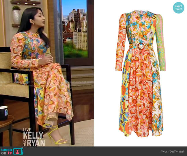 Estelle Dress by Zimmermann worn by Maitreyi Ramakrishnan on Live with Kelly and Ryan