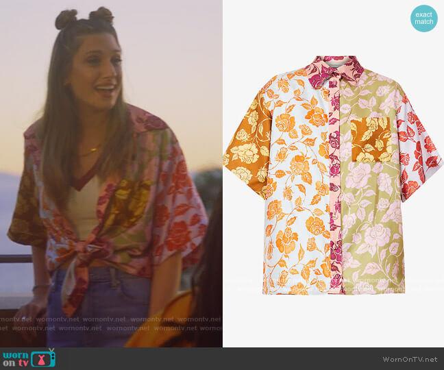 Lovestruck Contrast Floral Blouse by Zimmermann worn by Nomi Segal (Emily Arlook) on Grown-ish