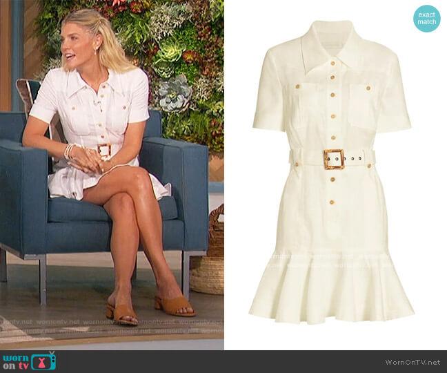 Poppy Belted Mini Dress by Zimmermann worn by Amanda Kloots  on The Talk